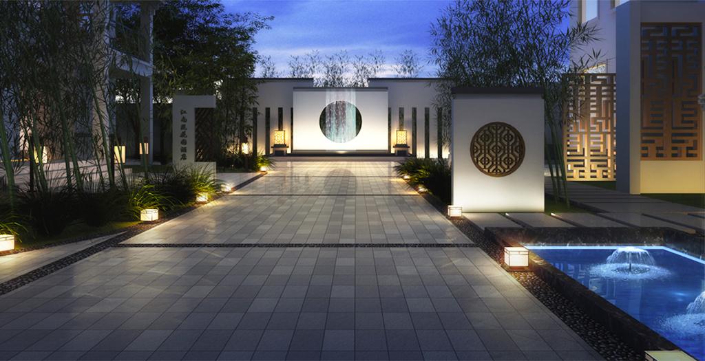 南浔江南庭院为新建的徽派别墅群,共有9栋楼,与古镇景区仅一墙之隔.